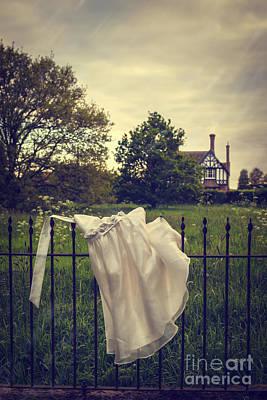 Snag Photograph - Abandoned Dress by Amanda Elwell