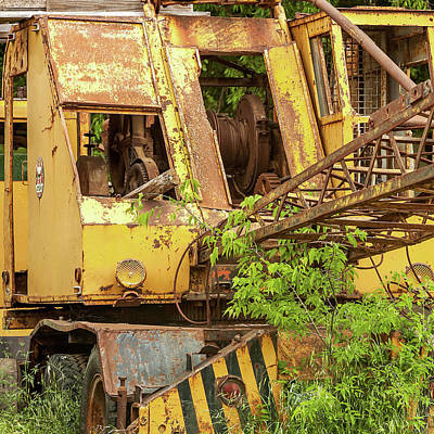 Photograph - Abandoned Excavator by Art Block Collections