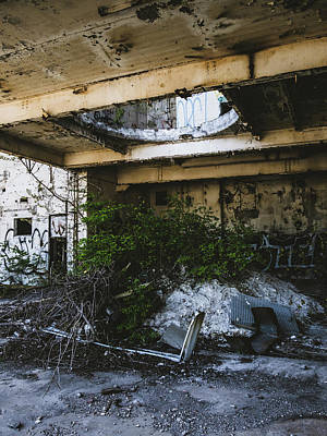 Photograph - Abandoned Factory Exterior by Dylan Murphy