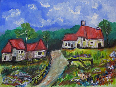 Painting - Abandoned Farm by Clyde J Kell