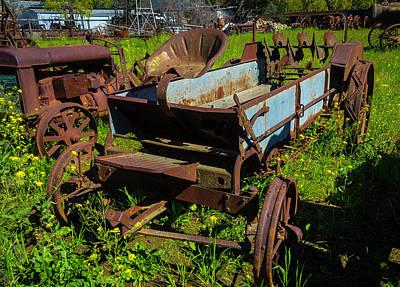 Wagon Photograph - Abandoned Farm Equipment by Garry Gay