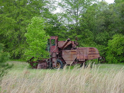 Photograph - Abandoned Farm Machinery by Quwatha Valentine