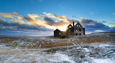 Art Print featuring the photograph Abandoned Farm On The Snaefellsnes Peninsula by Alex Blondeau