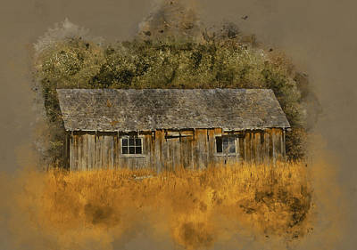 Digital Art - Abandoned Farm Shed by Richard Farrington