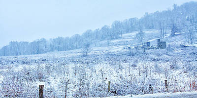 Winter Storm Digital Art - Abandoned Farm Winter Storm by Randy Steele