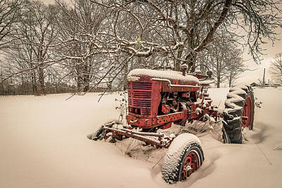 Photograph - Abandoned Farmall by Tim Kirchoff