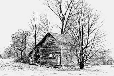 Michigan Farmhouse Photograph - Abandoned Farmhouse In The Michigan Countryside by Toni Abdnour