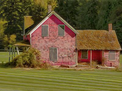 Digital Art - Abandoned Farmhouse by Leslie Montgomery