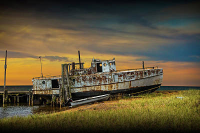 Photograph - Abandoned Fishing Boat On Lake Huron by Randall Nyhof