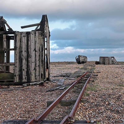 Photograph - Abandoned Fishing Huts by Gill Billington