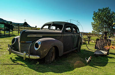 Photograph - Abandoned Ford Vintage Classic - Color by RayZa Photography