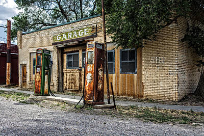 Abandoned Garage Art Print