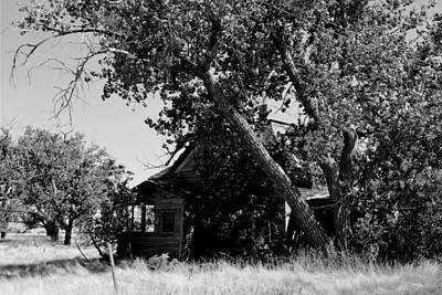 Photograph - Abandoned Ghost Town House - Black And White by Matt Harang