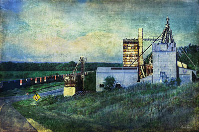 Photograph - Abandoned Grain Elevator And Silos by Anna Louise