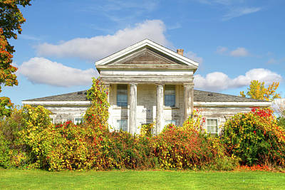 Photograph - Abandoned Greek Revival by Newman Artography