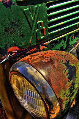 Photograph - Abandoned Green Truck Bodie Ghost Town by Roger Passman