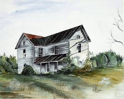 Abandoned Houses Drawing - Abandoned Home by Robin Martin Parrish
