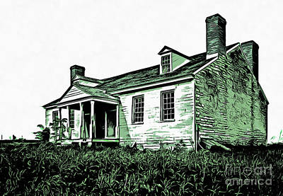 Historic Home Drawing - Abandoned Homestead by Edward Fielding