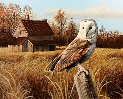 Wall Art - Painting - Abandoned Homestead by Paul Makuchal