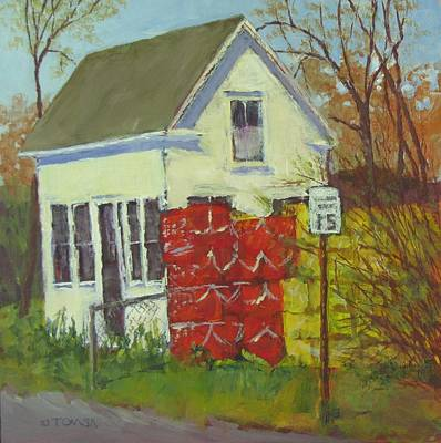 Painting - Abandoned House And New Traps by Bill Tomsa