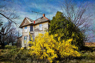 Photograph - Abandoned House In Early Kansas Spring 1 by Anna Louise