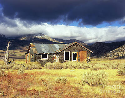 Photograph - Abandoned House In Storm by Jim And Emily Bush