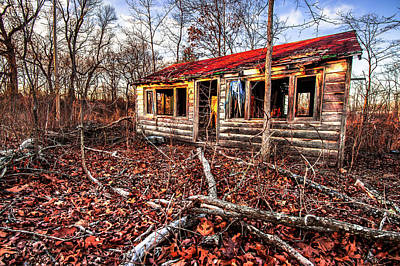 Old Cabins Photograph - Abandoned House In The Middle Of Nowhere by Gregory Ballos