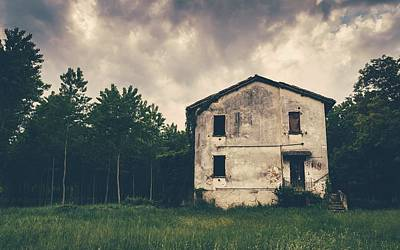 Photograph - Abandoned House In Woods by Alexandre Rotenberg