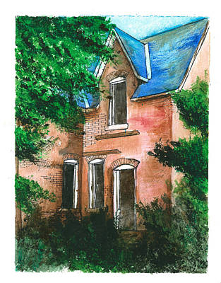 Abandoned House Art Print by Jonathan Baldock