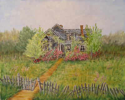 Painting - Abandoned House by Quwatha Valentine