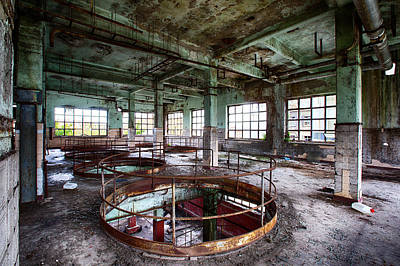 Industrial Decay Photograph - Abandoned Industrial Alcohol Distillery - Industrial Decay by Dirk Ercken