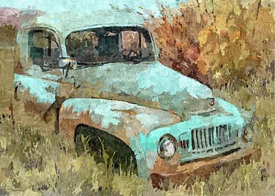 Truck Digital Art - Abandoned International Dp by David King