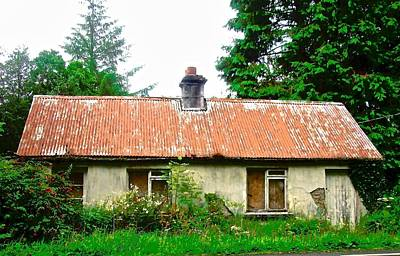 Photograph - Abandoned Irish Cottage by Stephanie Moore
