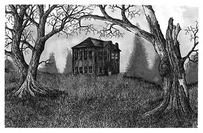 Old Home Place Drawing - Abandoned? by Jonathan Baldock