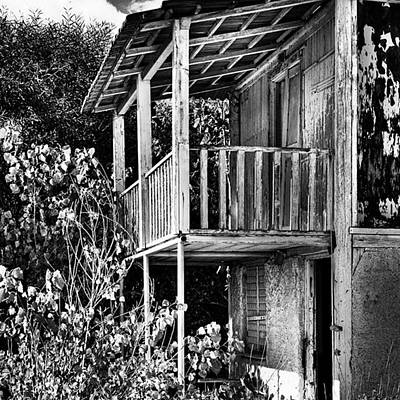 Monochrome Photograph - Abandoned, Kalamaki, Zakynthos by John Edwards