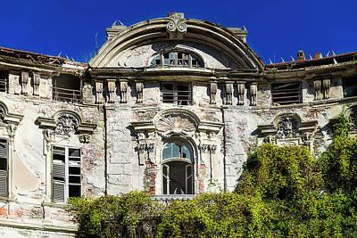 Photograph - Abandoned Liberty Villa With Pigeons - Villa Liberty Abbandonata Con Colombi by Enrico Pelos