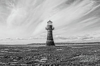 Tonal Photograph - Abandoned Light House Whiteford by Edward Fielding