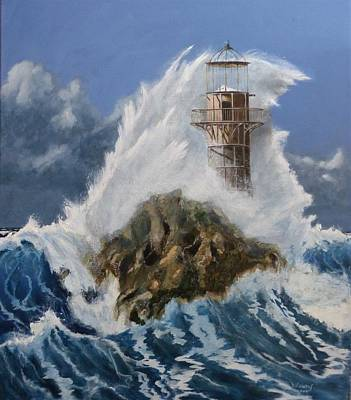 Painting - Abandoned Lighthouse. by David Hawkes