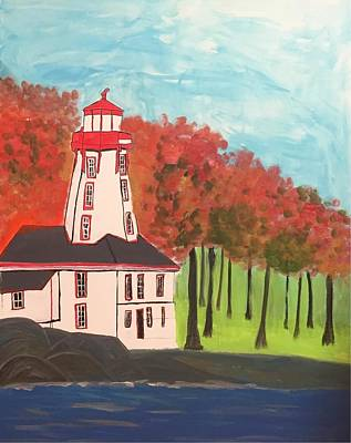 Painting - Abandoned Lighthouse by Paula Brown