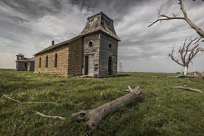 Abandoned School House Photograph - Abandoned Lutheran Church by Chris Harris