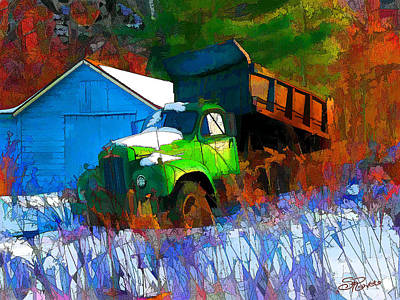 Painting - Abandoned Mack by Suni Roveto