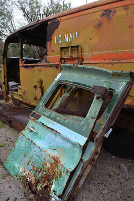 Photograph - Abandoned Mojave Mail Truck by Kyle Hanson