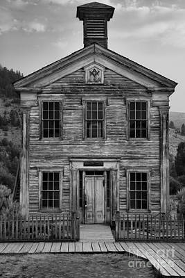 Bannack State Park Photograph - Abandoned Montana Schol by Adam Jewell