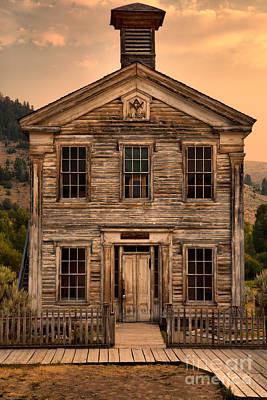 Bannack State Park Photograph - Abandoned Montana School by Adam Jewell
