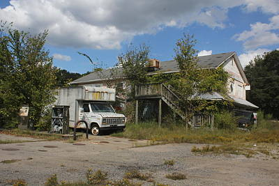 Abandoned N And J Convenience Store 2 Art Print by Joseph C Hinson Photography