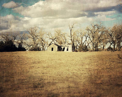 Country Cottage Photograph - Abandoned Nebraska by Julie Hamilton