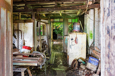 Photograph - Abandoned Office Interior by Stuart Row