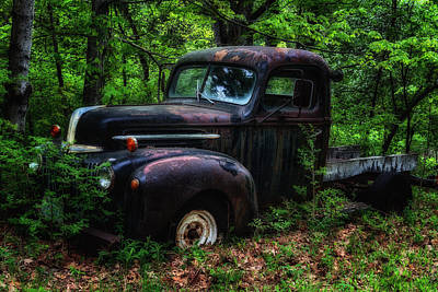 Photograph - Abandoned - Old Ford Truck by John Vose