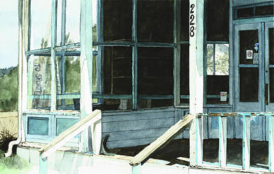 Abandoned Old Store Art Print by Perry Woodfin