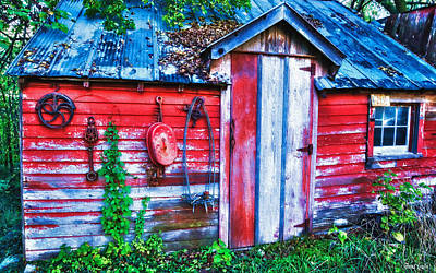 Shed Digital Art - Abandoned Old Tool Shed by Anna Louise